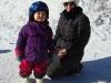 Skifahrerin Melina